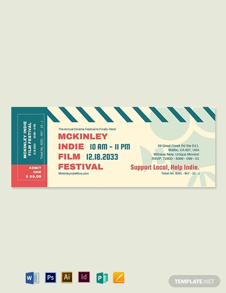 cinema event ticket