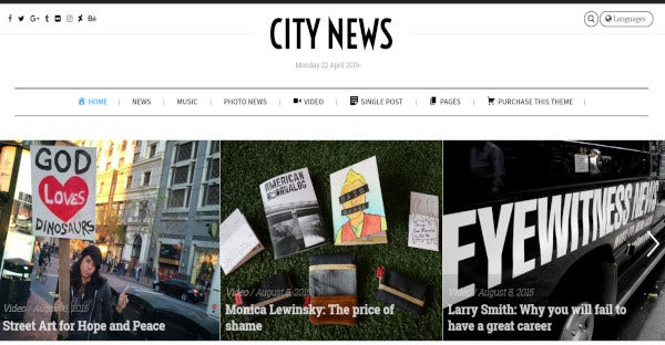 citynews wpbakery page builder wordpress theme