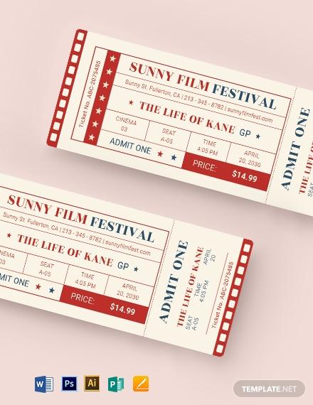classic movie admit one ticket