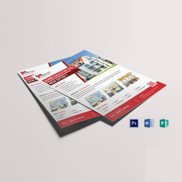classic real estate flyer template