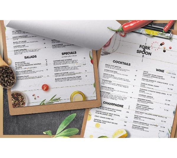 classic restaurent catering service menu