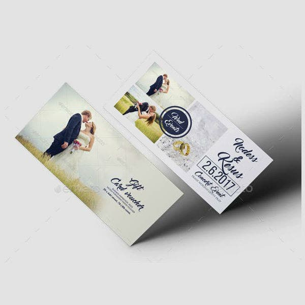 classic wedding gift voucher template