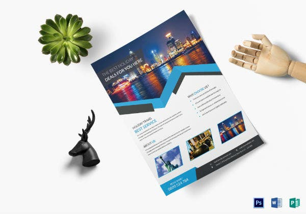 clean travel flyer template2