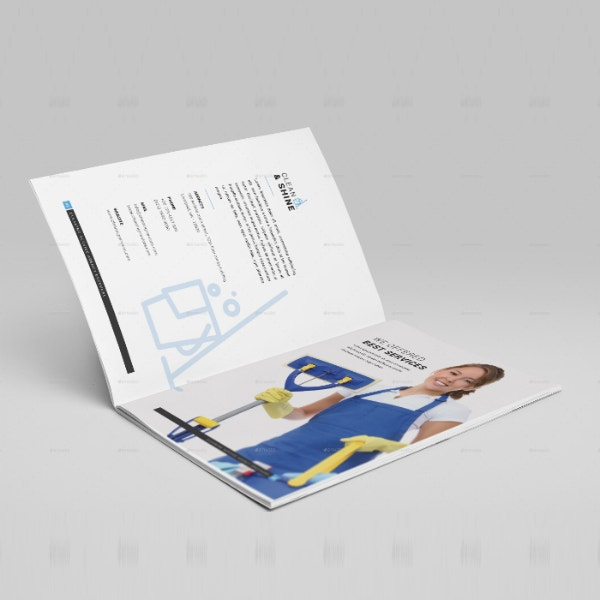 cleaning service company brochure template