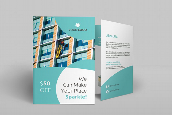 cleaning services bi fold brochure