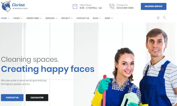 clerina wpbakery page builder wordpress theme