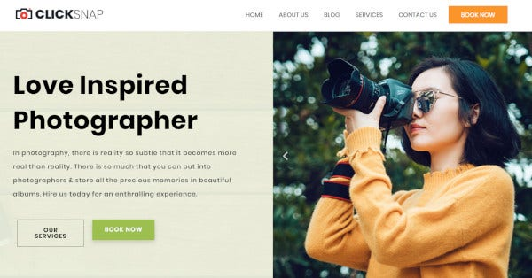 clicksnap – responsive wordpress theme