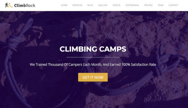 climbrock seo friendly wordpress theme