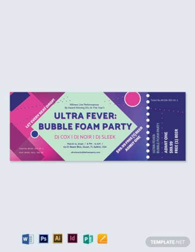 club event ticket