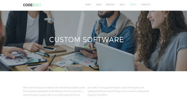 codebolt drag and drop page builder wordpress theme