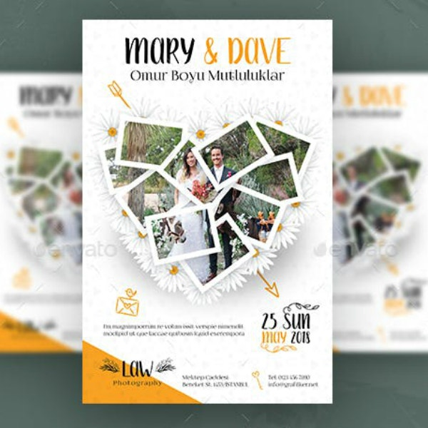 collage style wedding poster example