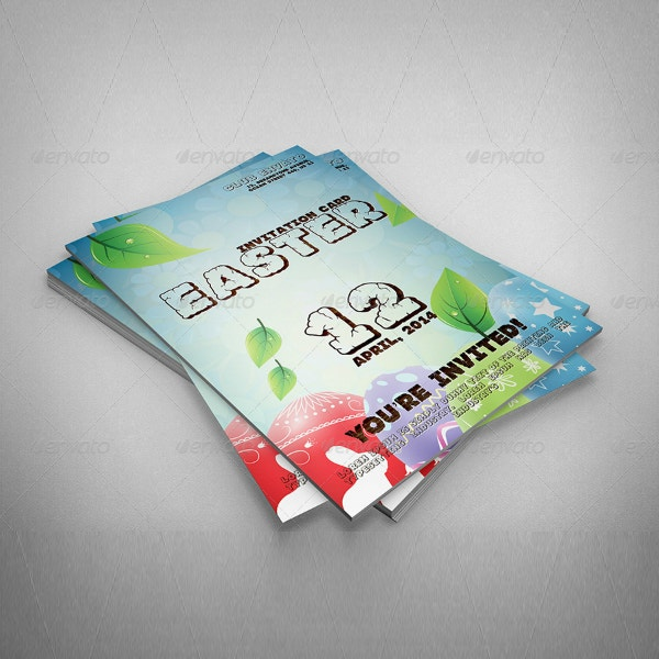 colorful easter invitation card format