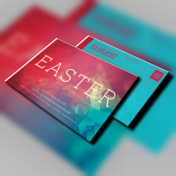 Colorful Geometric Easter Flyer Sample