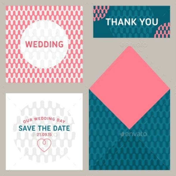 colorful wedding envelope template