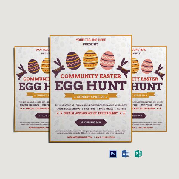 community easter egg hunt flyer