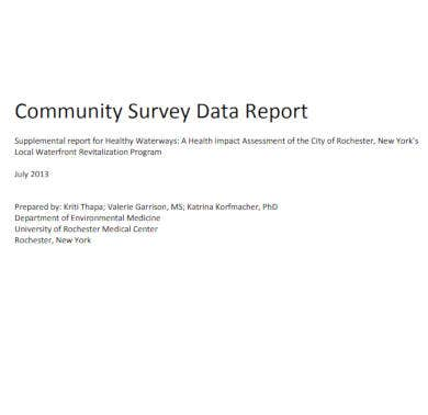 community survey data report