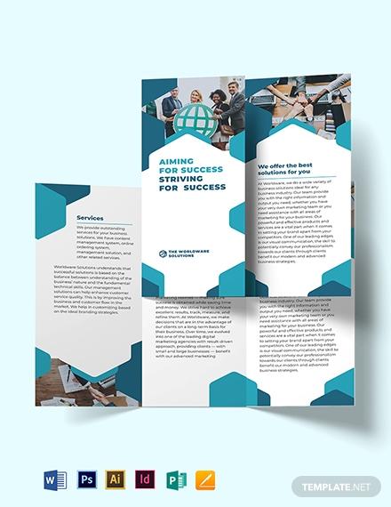 company e vent tri fold brochure template