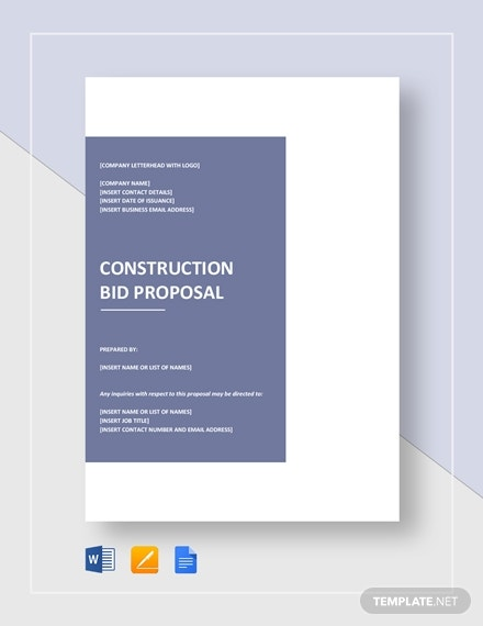 construction bid proposal