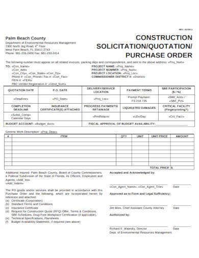 construction quotation example