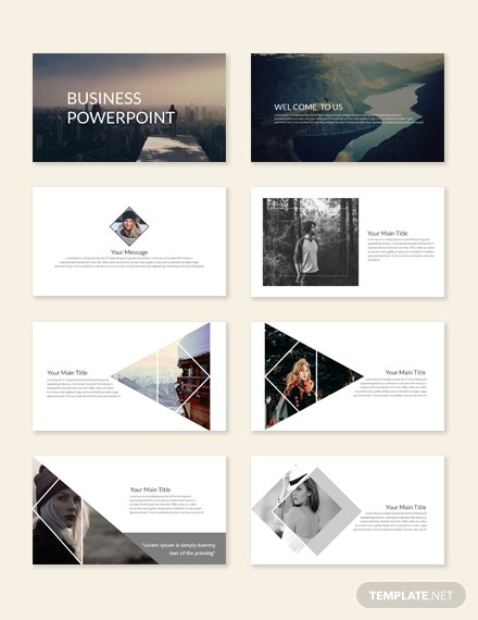 contemporary business powerpoint presentation layout