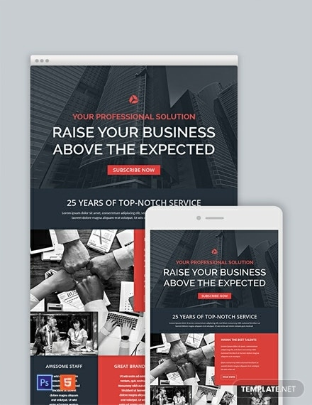 corporate email newsletter template