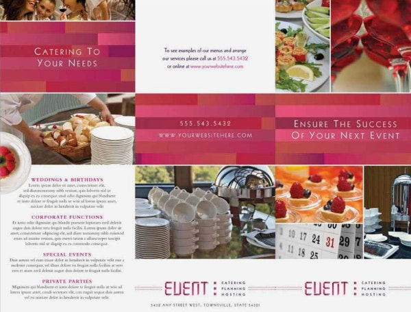corporate-event-caterer-tri-fold-brochure