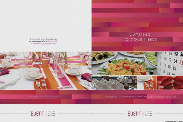 corporate event catering brochure