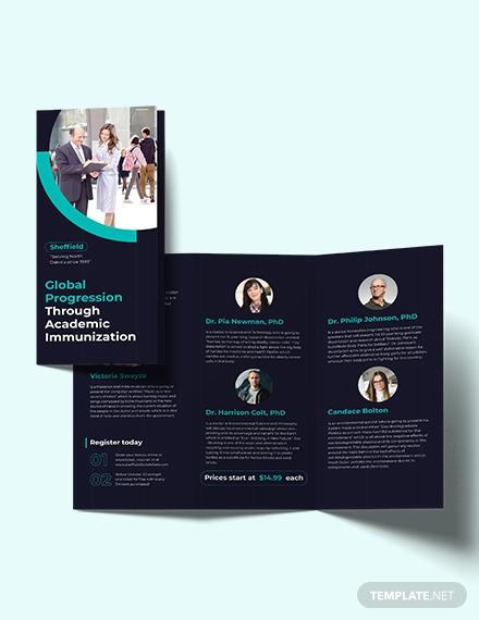corporate event tri fold brochure template