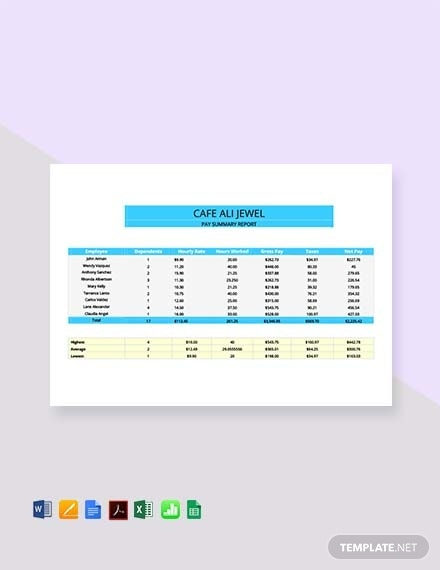 corporate pay stub template 1