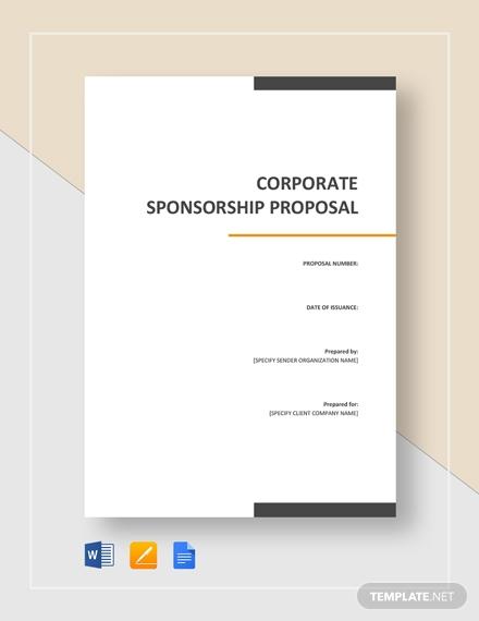 corporate sponsorship proposal