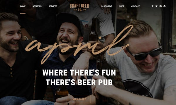 craft beer user friendly wordpress theme