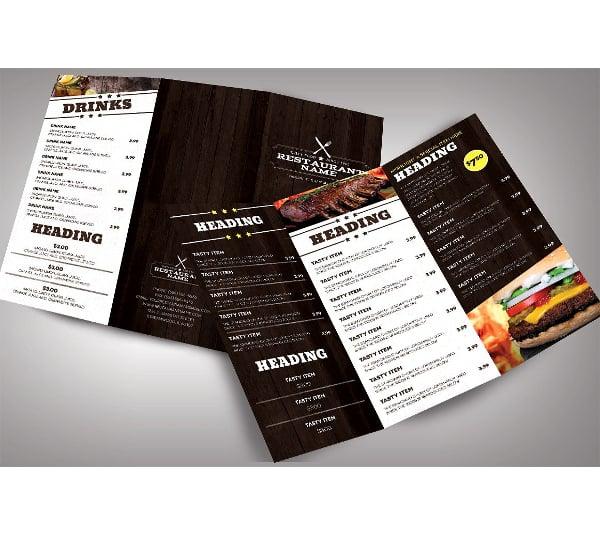 creative catering service menu template