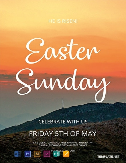 creative easter sunday flyer layout