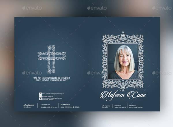 creative funeral brochure