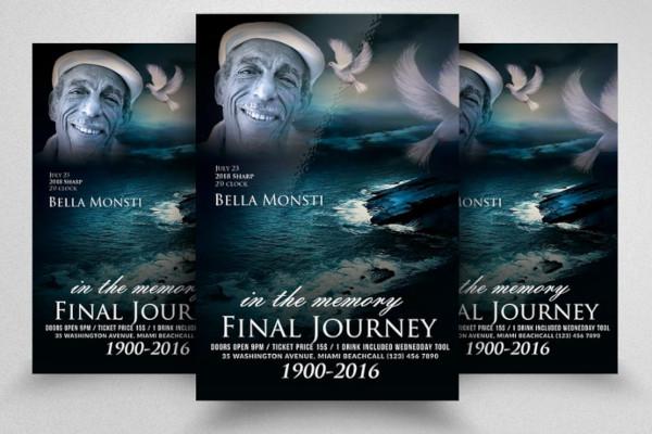 creative funeral flyer