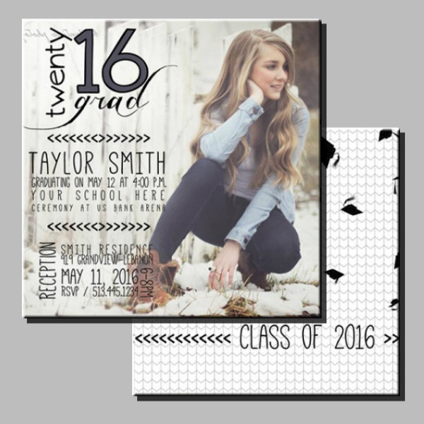 creative graduation announcement card design