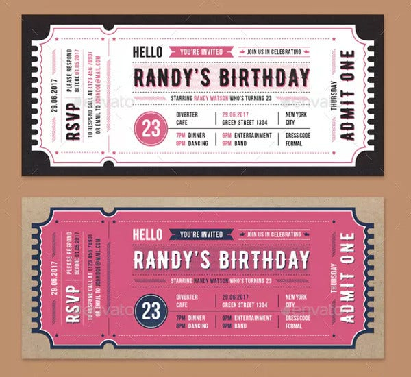 creative invitation ticket