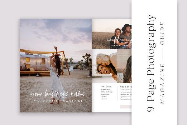 creative photography pricing list template