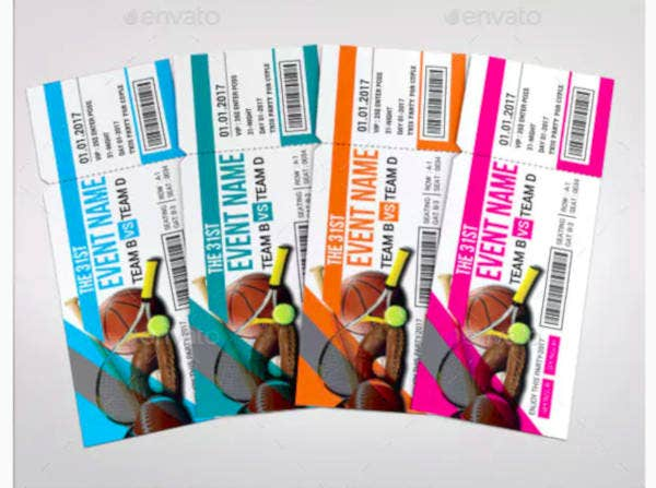 creative sports event ticket