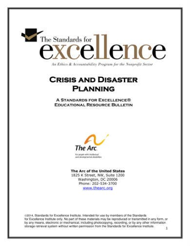 crisis and disaster planning 01