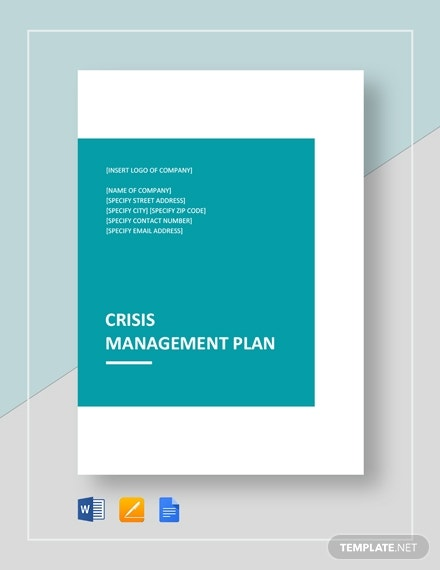 crisis management plan