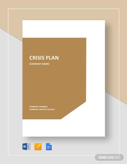 crisis plan 2