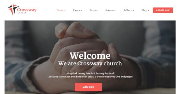 crossway woocommerce ready wordpress theme