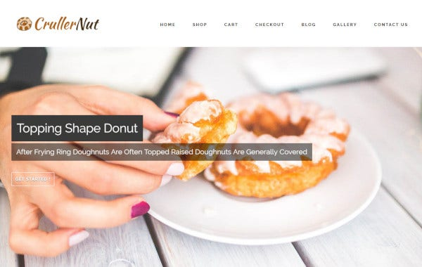 cruller net – mobile friendly wordpress theme