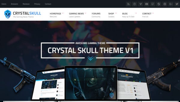 crystalskull-bbpress-plugin-wordpress-theme