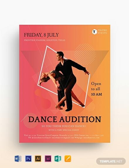 dance audition flyer template 440x570 1