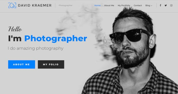 david kraemar parallax effect wordpress theme