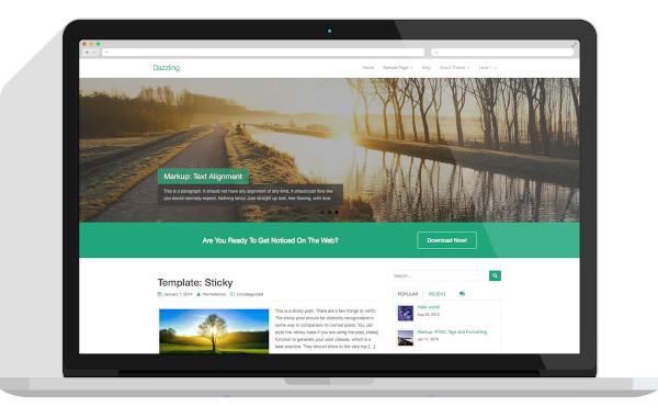 dazzling – free flat design wordpress business theme