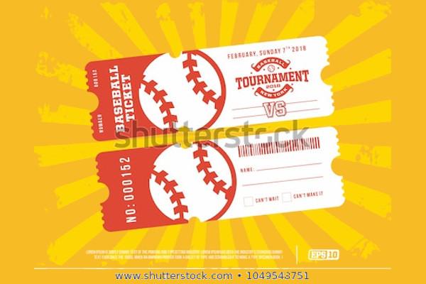 design of baseball ticket