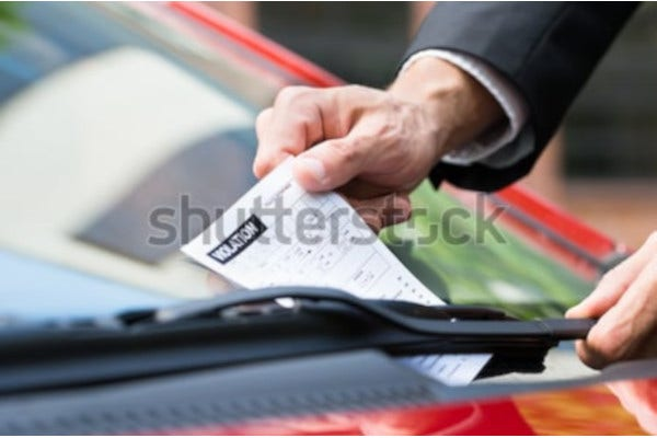 design of parking ticket
